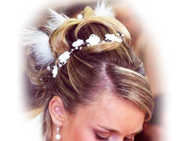 Coiffeur pour mariage coupe et chignon alouax coiffure la londe les maures - Coupe pour mariage invite ...